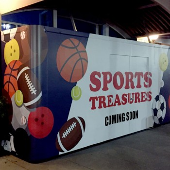 sports treasures barricade by mall wall usa