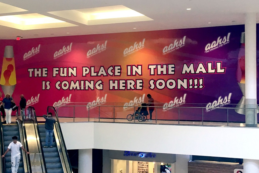 Mall Wall Barricade Graphics